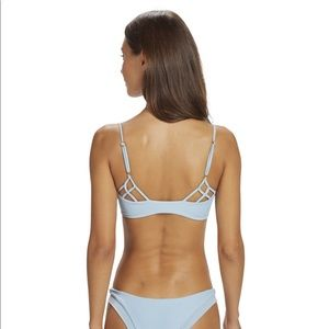 NWOT Issa De mar baby blue ribbed bikini set
